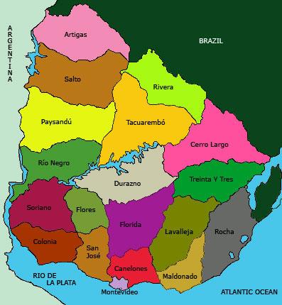 Uruguay 39 s map and uruguay 39 s flag for Mueblerias por calle rivera montevideo