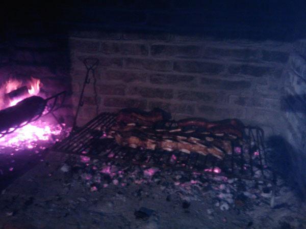 preparación de un asado, Uruguay - Uruguayuruguay.com